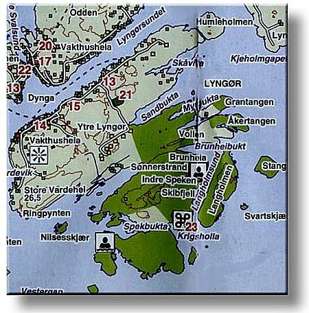 kart lyngør Kart over ytre Lyngør kart lyngør